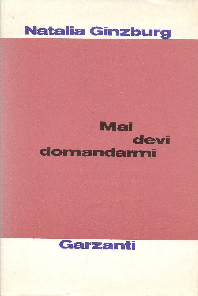 Het nboek van Natalia Ginzburg waarin een essay over Ernst Bernard