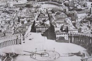 Kerst in Rome 1933: Borgo Spina vóór de sloop begonnen op 28 oktober 1936.